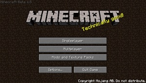 Minecraft Beta 1.5