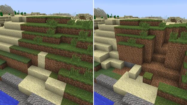 Dirt, Gravels, Sand in Minecraft Mods