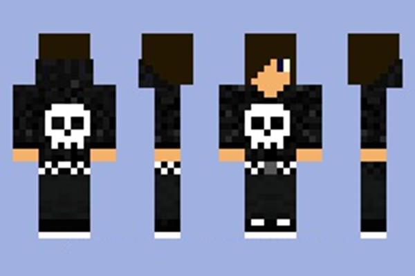 Minecraft Skins: Skull Hoodie